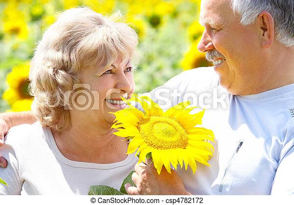paar, senioren - csp4782172