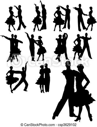 paar, set, dancing - csp3629102
