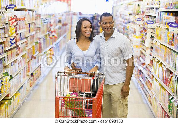paar, shoppen , supermarkt - csp1890150