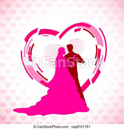 paar, trouwfeest - csp8101761