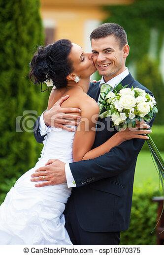 paar, verheiratet, junger, gerecht - csp16070375