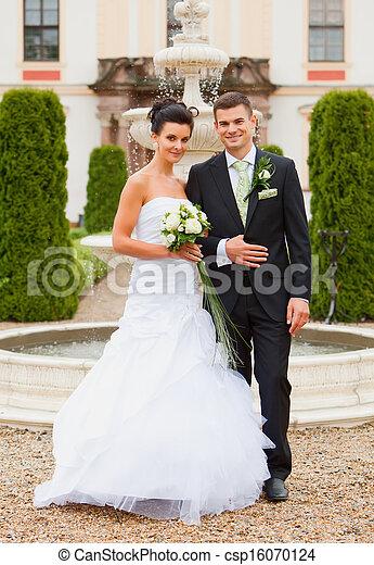 paar, verheiratet, -, junger, gerecht - csp16070124