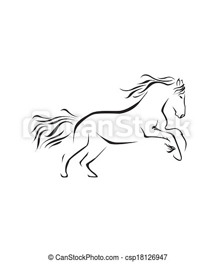 paarde, vector, symbool, illustratie - csp18126947