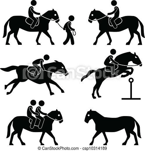 paardrijden, paarde, jockey, ruiter - csp10314189