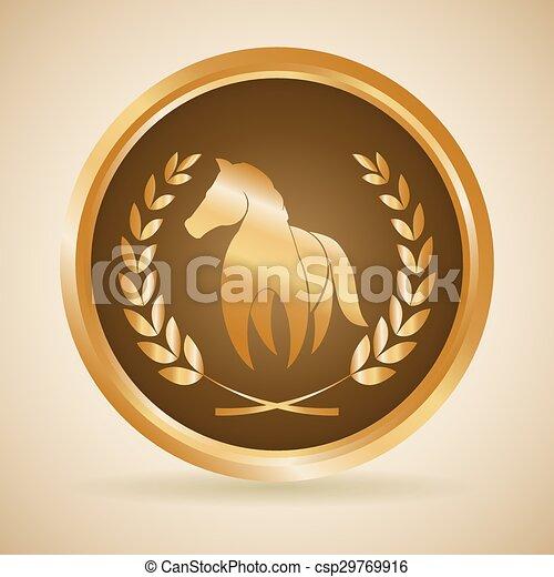 paardrijden, paarde, ontwerp - csp29769916
