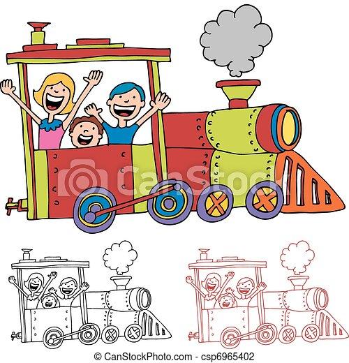 Paardrijden Trein Kinderen Paardrijden Beeld Kinderen Train