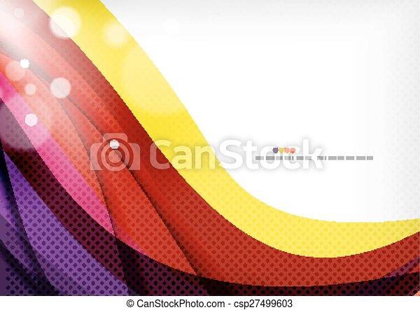 paarse , abstract, gele, lijnen, achtergrondkleur - csp27499603