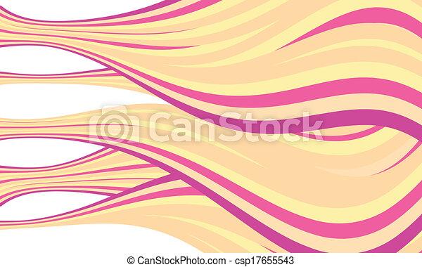 paarse , abstract, vector, lijnen, gele - csp17655543