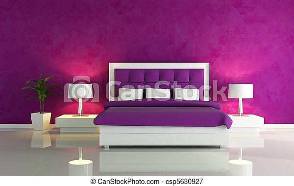 Paarse Accessoires Slaapkamer : Paarse mode slaapkamer