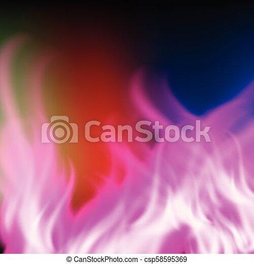 paarse , regenboog, abstract, vuur, achtergrond - csp58595369