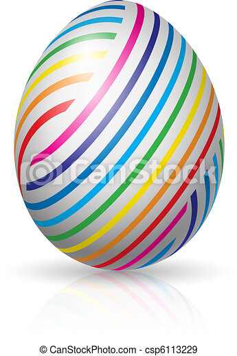 paasei, strepen, kleurrijke - csp6113229