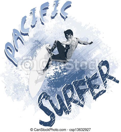 Surfista del Pacífico - csp13632927