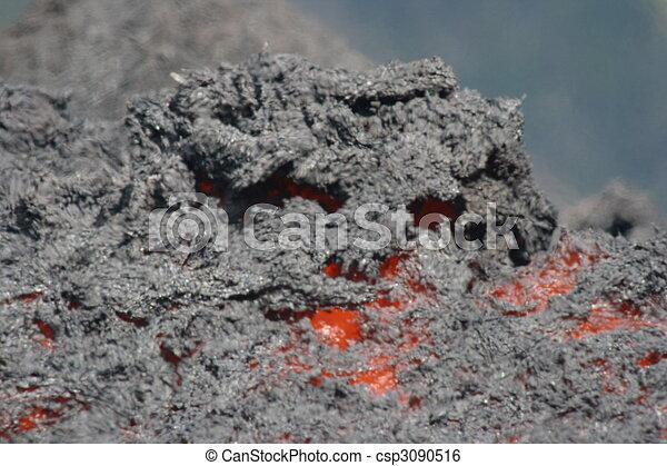 Lava fluye en el volcán pacaya - csp3090516