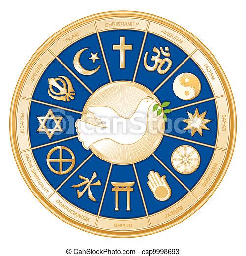 pace mondo, colomba, religioni - csp9998693