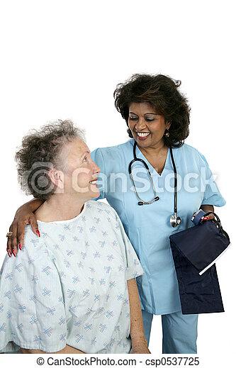 paciente, amigável, cuidado - csp0537725