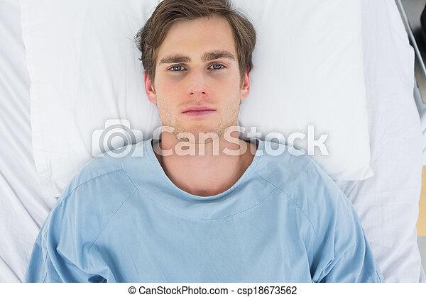 paciente, cama, mentindo, hospitalar - csp18673562