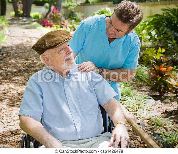 paciente enfermeira, idoso - csp1426479