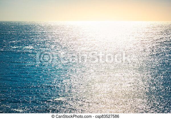 Pacific ocean at sunset - csp83527586