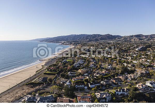 Pacific Palisades Los Angeles Ocean View Homes - csp43494572