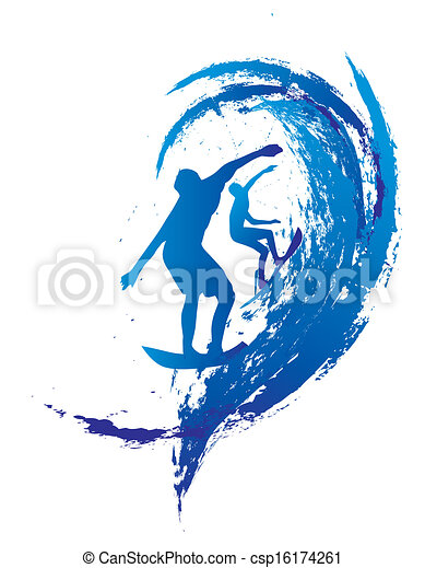pacific surfer vector graphic design - csp16174261