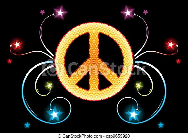 Signo de oro pacifista - csp9653920