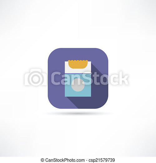 pack of cigarettes icon - csp21579739
