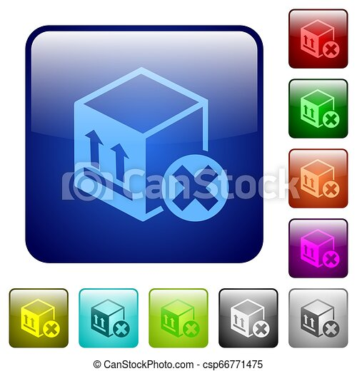 Package cancel color square buttons - csp66771475