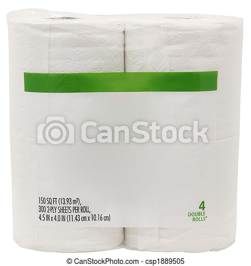 Package of Toilet Paper with Blank Label - csp1889505