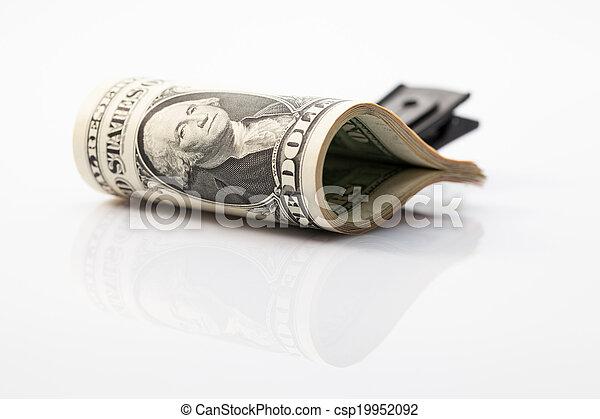 Package of U.S. dollar bills  - csp19952092