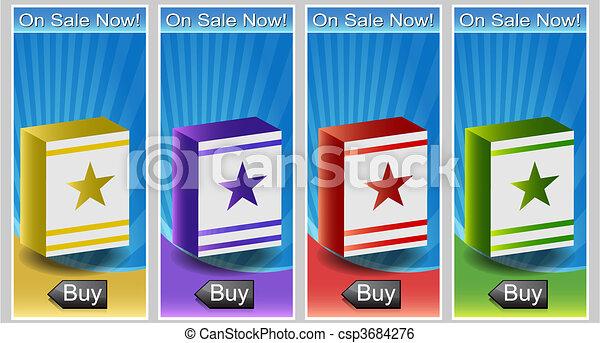 Packaging Banner Set - csp3684276