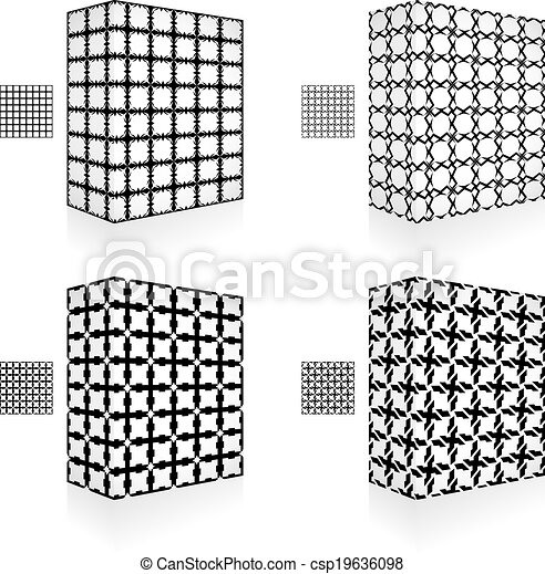 Packaging box. Seamless pattern. - csp19636098