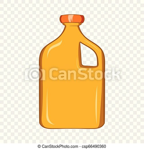 Packaging for engine oil icon, cartoon style - csp66490360
