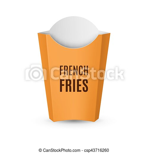 Fast Food Icon Empty Yellow Packaging For French Fries For Design