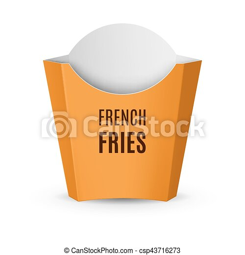 Packaging for French Fries - csp43716273