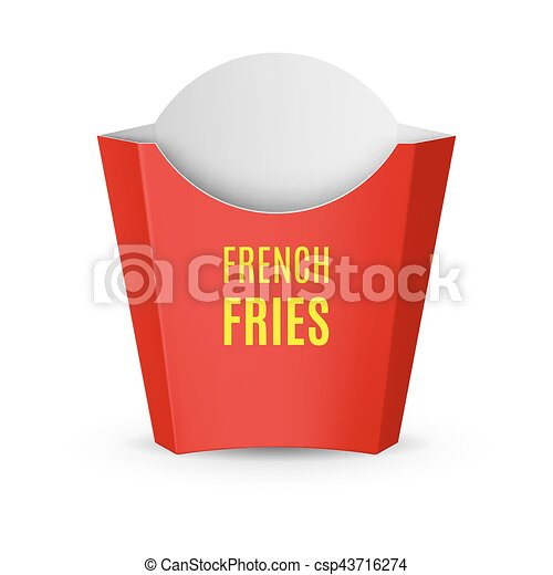 Packaging for French Fries - csp43716274