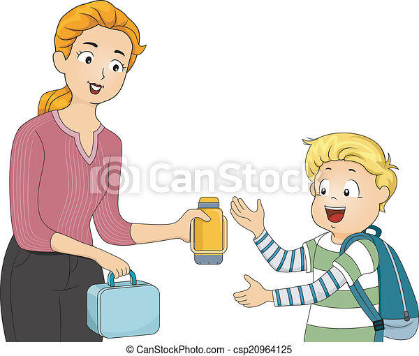 Packed lunch clipart