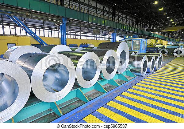 packed rolls of steel sheet - csp5965537