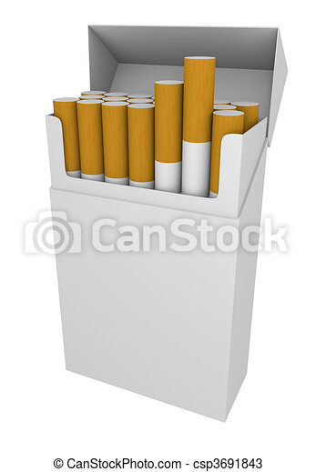 Packet of cigarettes - csp3691843