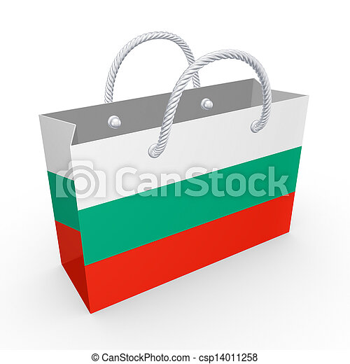 Packet with flag of Bulgaria. - csp14011258