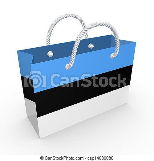 Packet with flag of Estonia. - csp14030080