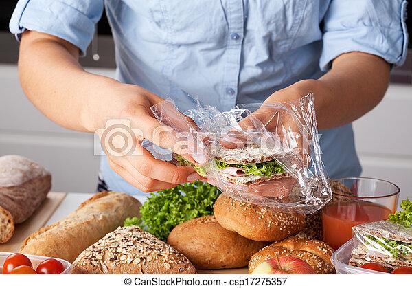 Packing tasty sandwich - csp17275357