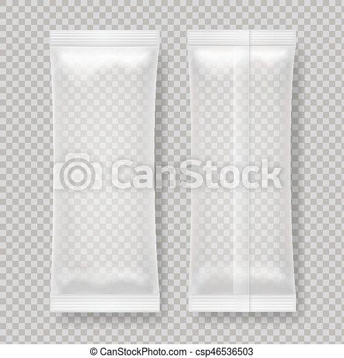 Pacote Alimento Folha Em Branco Lanche Transparente Pacote