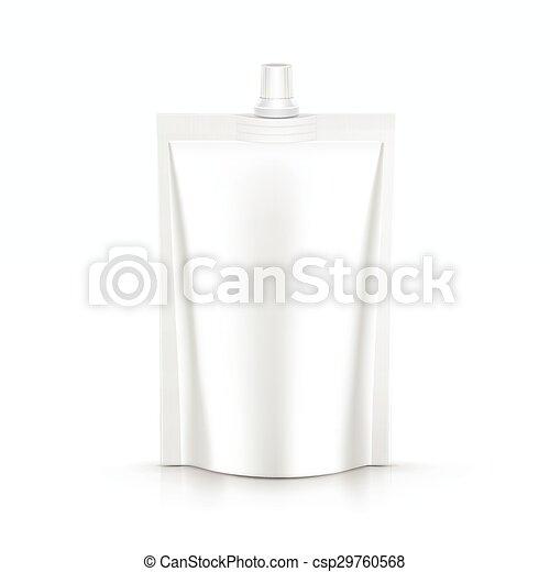 pacote, isolado, embalagem, saco, vetorial, maionese, molho, pacote - csp29760568