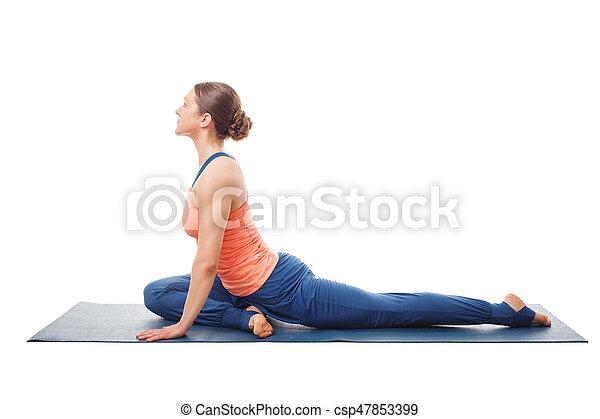 pada donna yoga eka kapotasana asana pada donna