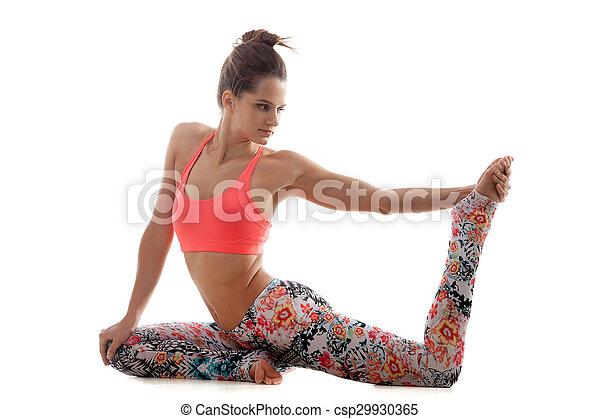 pada pose yoga eka préparation rajakapotasana pada