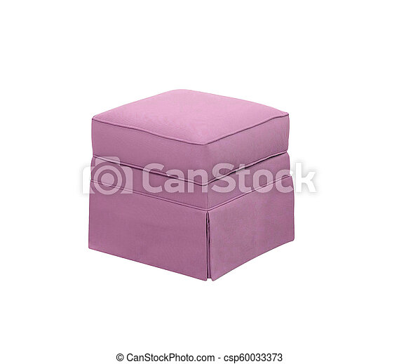 padded stool, isolated on a white background - csp60033373