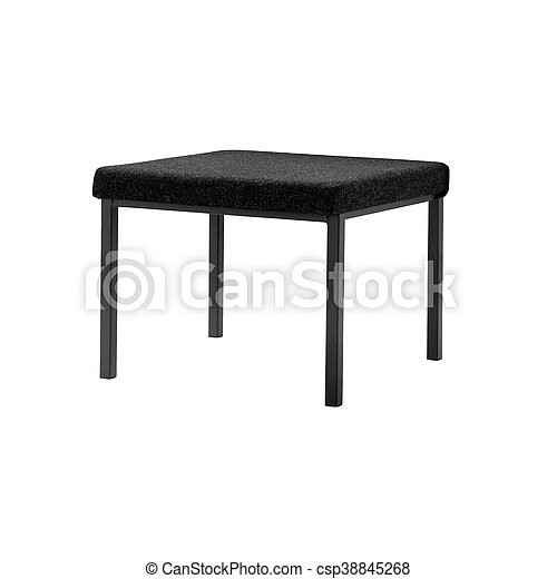 padded stool, isolated on a white background - csp38845268