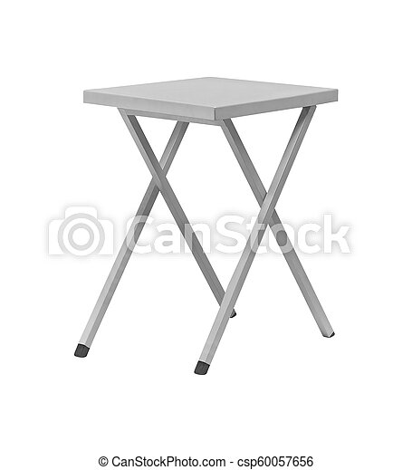 padded stool, isolated on a white background - csp60057656