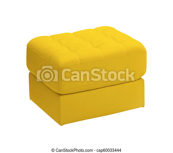 padded stool, isolated on a white background - csp60033444