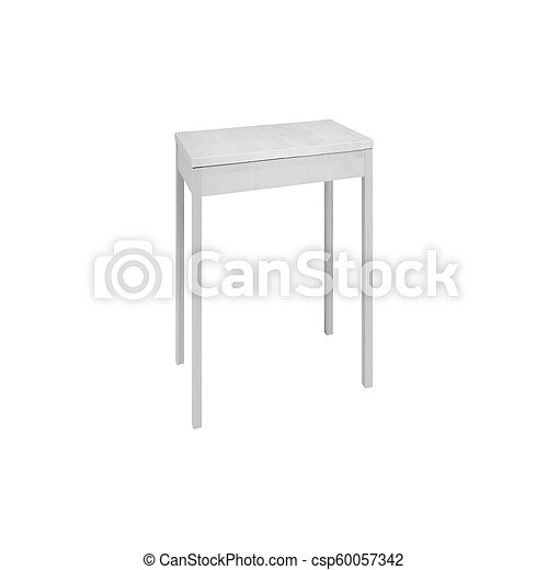 padded stool, isolated on a white background - csp60057342